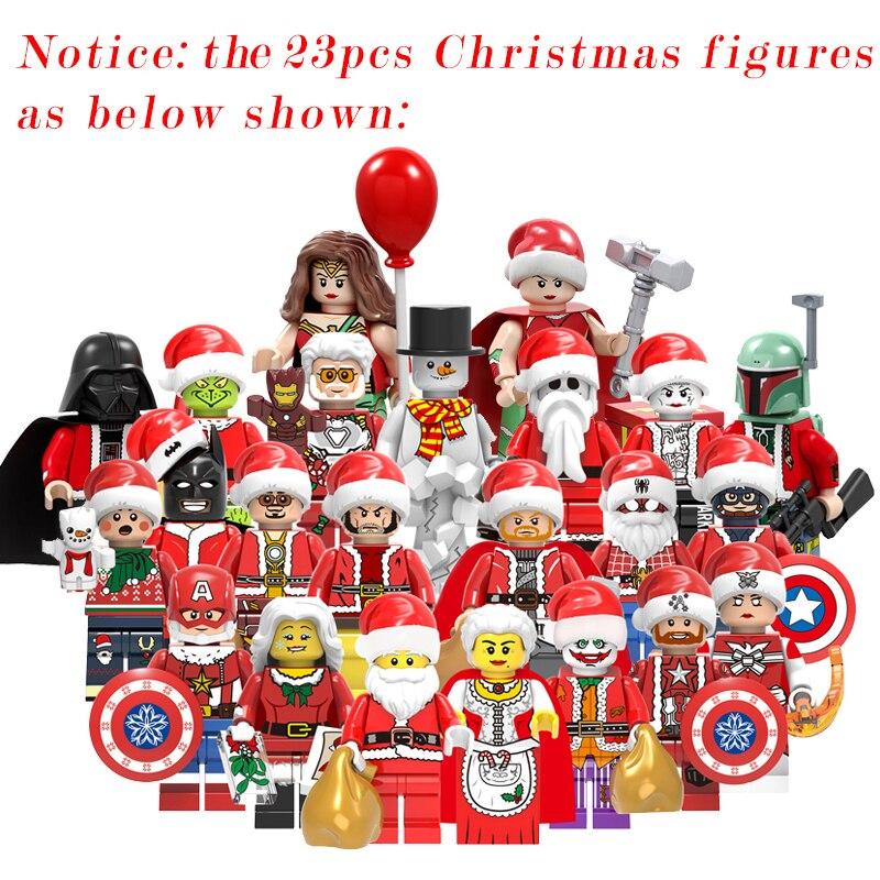 2020 New Christmas Sets Tree Santa Claus Creator MOC Compatible With Model Building Blocks Bricks Toys Gift No Box